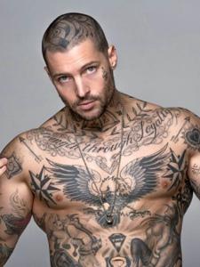 一组时尚潮男纹身刺青霸气无敌