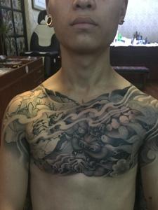 超有男人味的个性般若纹身图案