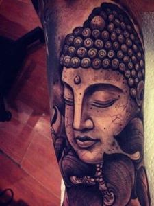 一组充满正能量的佛像纹身刺青