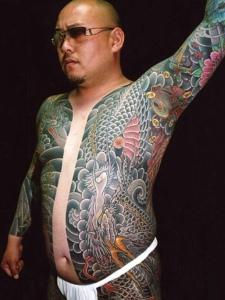 两款超级帅气的彩色双半甲纹身图案