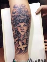 花旦纹身  泼墨纹身   覆盖伤疤纹身   天使纹身