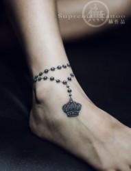 精美脚链纹身 美女纹身 女生纹身