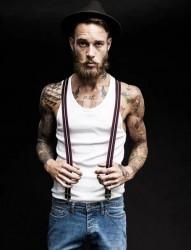 时尚男模Billy Huxley纹身合辑