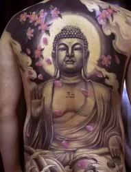 超霸气的佛像纹身