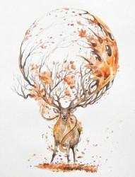 色彩缤纷的动物纹身手稿