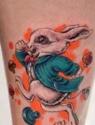 萌萌的小兔子纹身