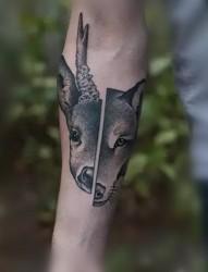 德国纹身师Valentin Hirsch的创意拼接纹身