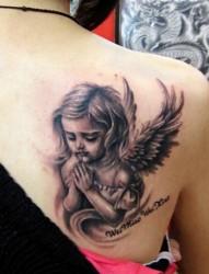 可爱的小天使纹身图案