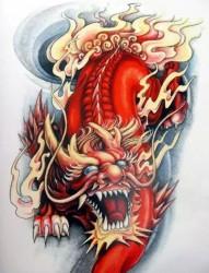 麒麟神兽纹身手稿集