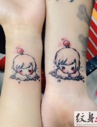 送给闺蜜的小清新纹身