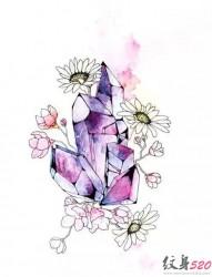 简单清新的小雏菊纹身手稿