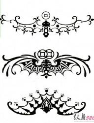 黑白的臂环纹身手稿素材