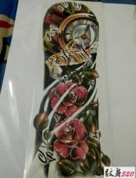 潮流时尚的花臂纹身手稿素材