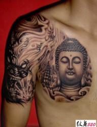 男士最爱的佛半甲纹身