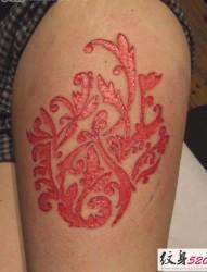 另类夸张的割肉纹身