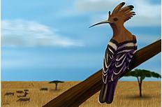 卡通啄木鸟图片素材