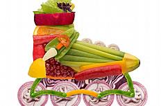 另类蔬菜粘贴画图片素材