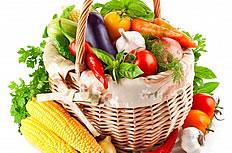 一篮子新鲜蔬菜图片