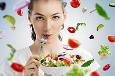 蔬菜与美女的图片