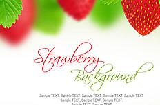 唯美红色草莓背景图片