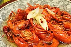 美味的红烧龙虾图片