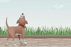 卡通小狗漫画图片