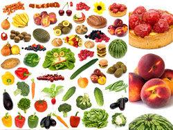 草莓西瓜香蕉辣椒水果与蔬菜高清图片