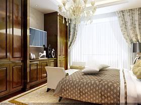 卧室窗帘台灯灯具案例展示