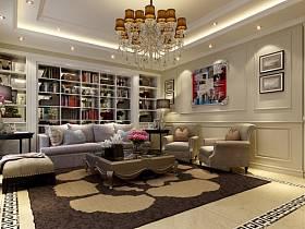 欧式欧式风格客厅四居设计图