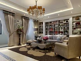 欧式欧式风格客厅四居装修效果展示