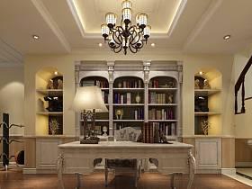 欧式欧式风格书房四居设计案例展示