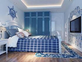 地中海地中海风格卧室设计图