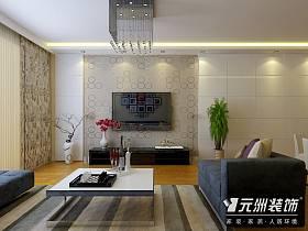 现代客厅电视柜电视背景墙效果图
