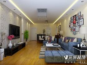 现代客厅沙发电视柜电视背景墙装修案例