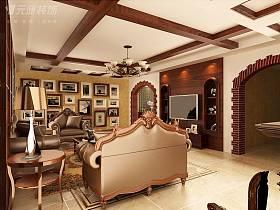 美式客厅沙发茶几设计方案
