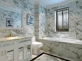 法式浴室淋浴房装修效果展示
