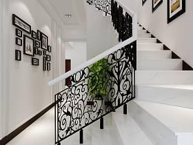欧式别墅楼梯装修案例