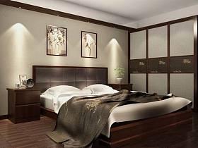 中式中式风格卧室挂画设计方案