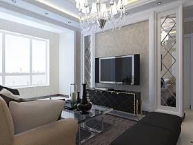 欧式简欧简欧风格客厅背景墙电视背景墙设计图