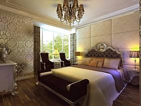欧式简欧简欧风格卧室背景墙设计图