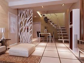 简约客厅楼梯图片