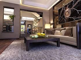 现代客厅别墅吊顶设计案例