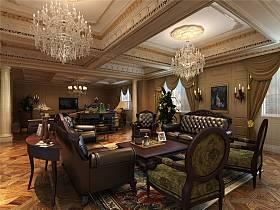 欧式吊顶沙发设计案例展示