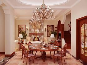 欧式餐厅别墅吊顶设计案例展示