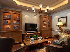 欧式欧式风格休闲区吊顶电视背景墙设计图