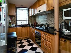 美式混搭厨房复式楼装修案例