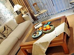 中式客厅茶几装修图