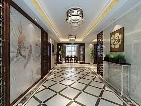 中式玄关别墅灯具设计方案