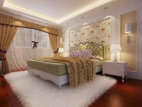 欧式卧室别墅窗帘设计图