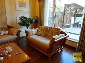 美式奢华客厅沙发布艺沙发效果图